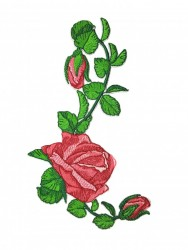 Patch Rosa com Botões Espelhada 2