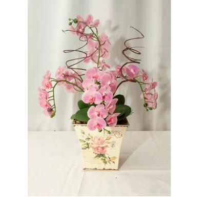 Arranjo de Orquídeas Rosas Artificial