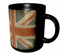 Caneca Reino Unido - Grunge 3