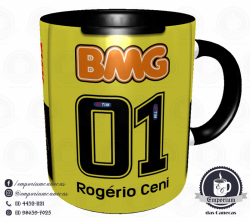 Caneca São Paulo FC - Camisa Rogério Ceni 100 Gols - Porcelana 325 ml 3