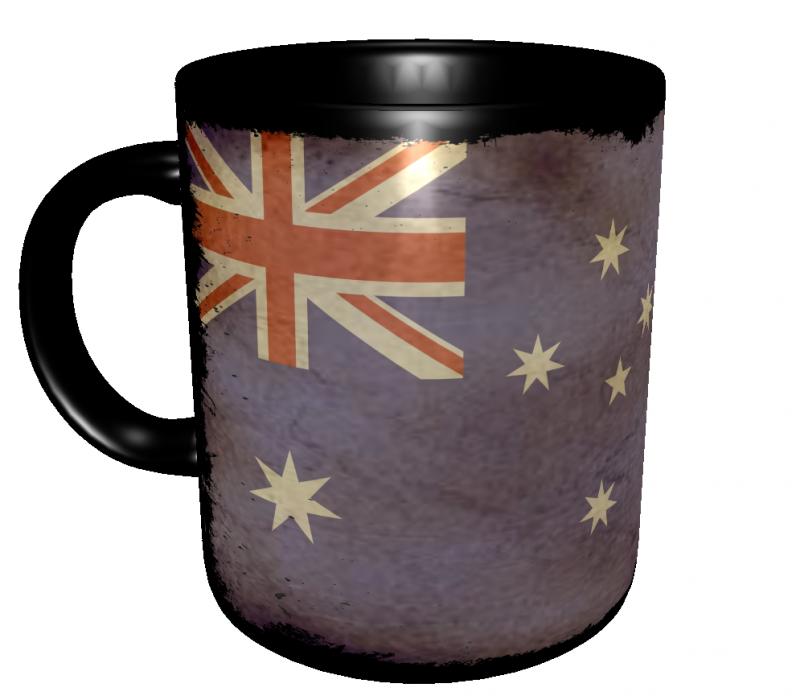 Caneca Austrália - Grunge