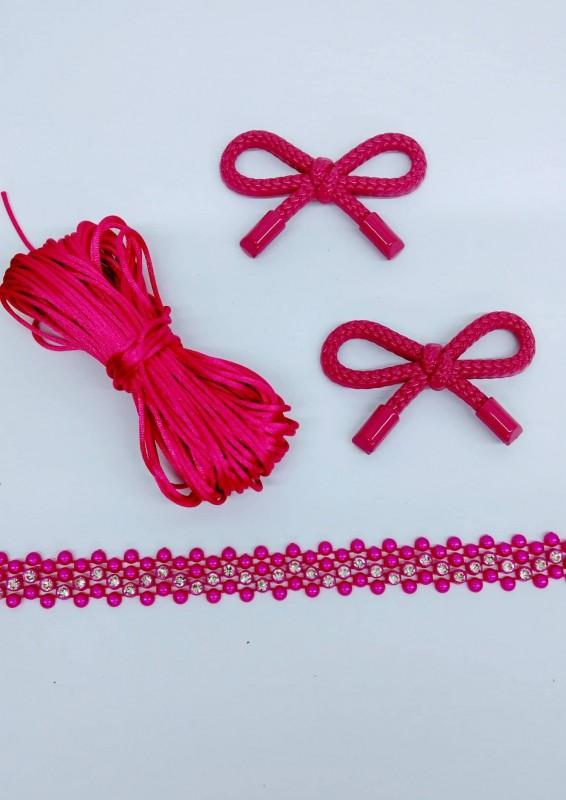 Kit Laço da Amizade Rosa Pink