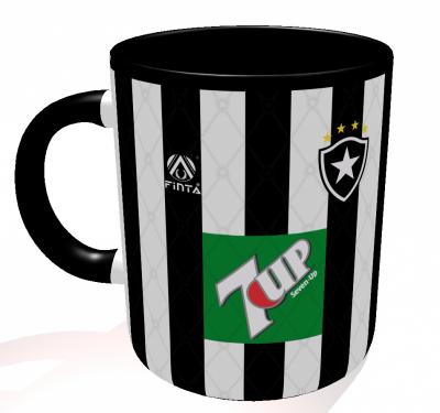 Caneca Botafogo - Camisa 1995 Brasileirão - Porcelana 325 ml
