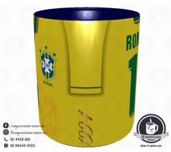 Caneca Seleção Brasileira - Camisa 1994 (Tetracampeão Mundial) - Porcelana 325 ml 2