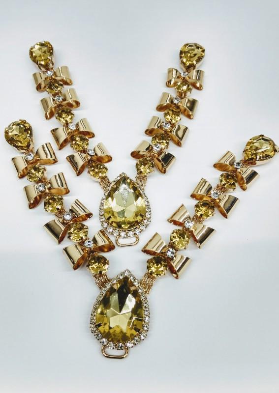 Cabedal Romantico Dourado