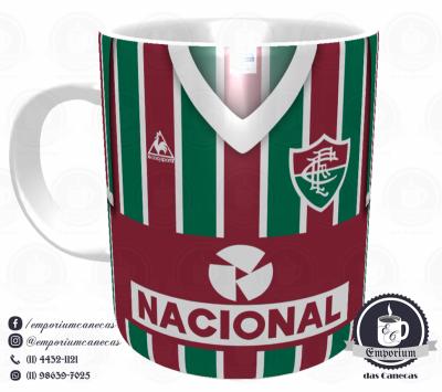 Caneca Fluminense - Camisa 1984 - Campeão Brasileiro - Porcelana 325 ml