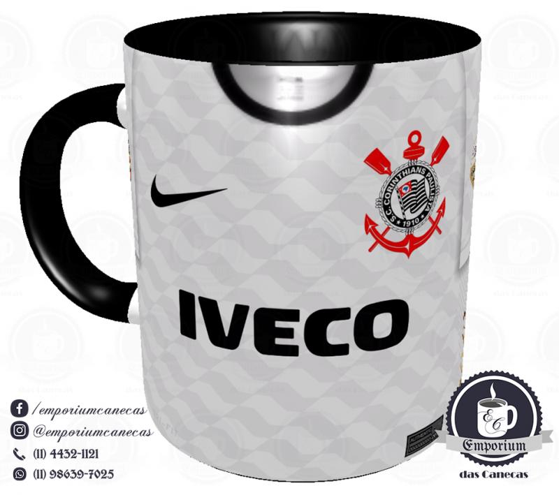 Caneca Corinthians - Camisa 2012 Libertadores - Porcelana 325 ml