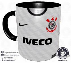 Caneca Corinthians - Camisa 2012 Libertadores - Porcelana 325 ml 1