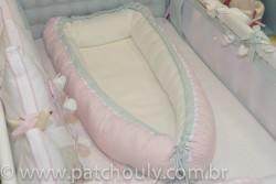 Ninho para bebê Listrado Rosa e Malva 5