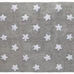 Tapete cinza com estrelas brancas modelo C-G-SW 3