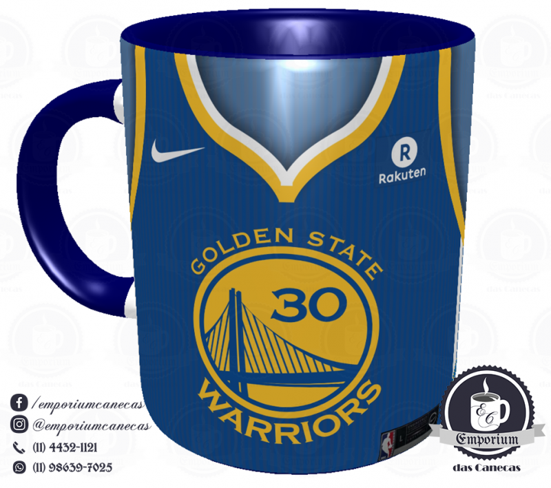 Caneca Golden State Warriors - Camisa 2018 Away - Porcelana 325 ml