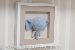 Quarto de Selva - Quadro de Elefante de crochet 3