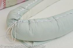 Ninho para Bebê Quadriculado Malva 2