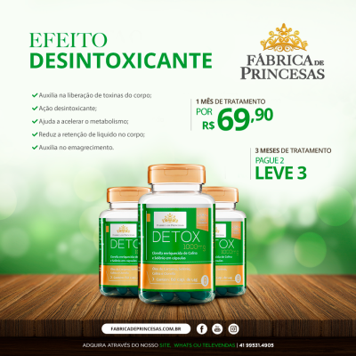 Detox  1000mg - 1 mês de tratamento
