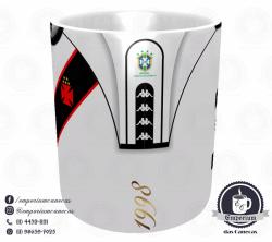 Caneca Vasco - Camisa 1998 Libertadores Branca - Porcelana 325 ml 2