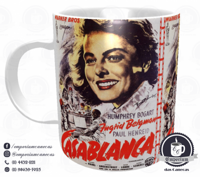Caneca Clássicos do Cinema - Casablanca - Porcelana 325 ml