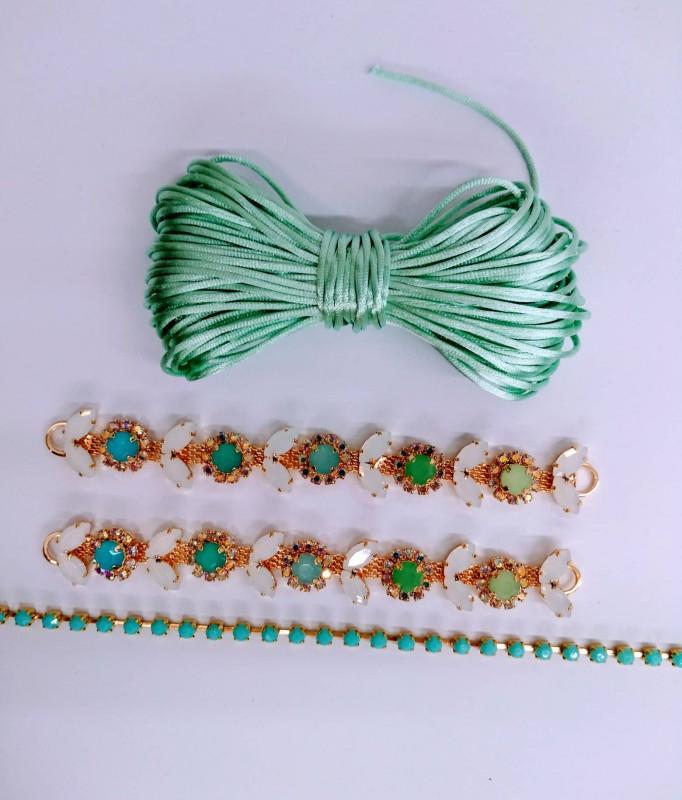 Kit Pedraria Alegria Verde Leitoso