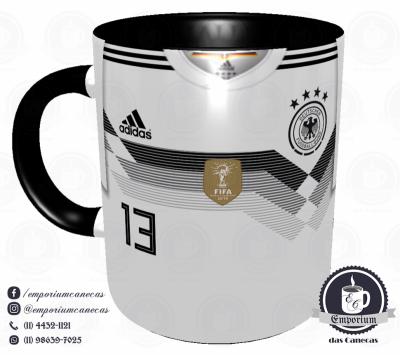 Caneca Alemanha - Camisa Copa do Mundo 2018 - Porcelana 325 ml