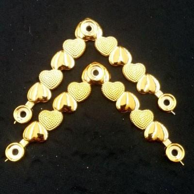 Coracao V ABS Dourado 019