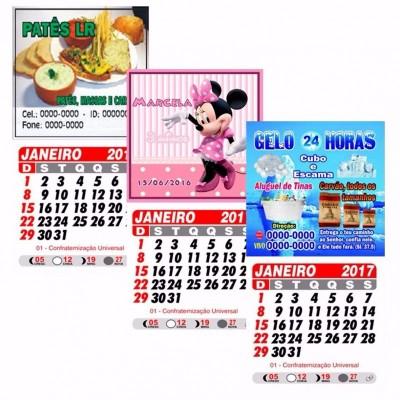 Imã De Geladeira c/ Calendario  50 Unidades