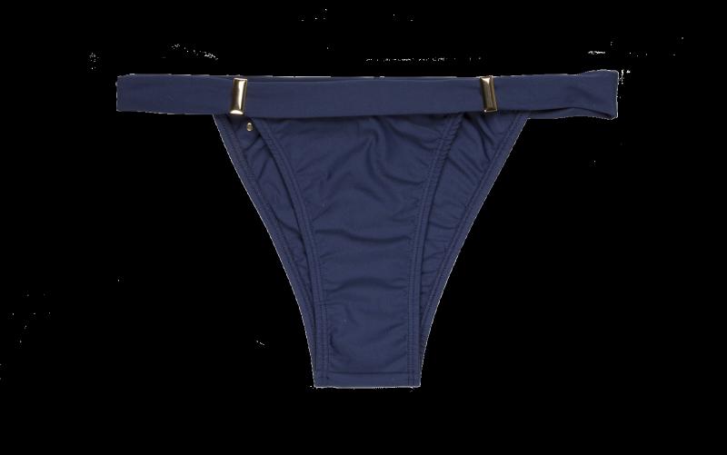 Biquini tanga azul marinho