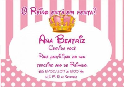 Convite Real menina