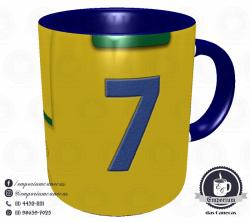 Caneca Seleção Brasileira - Camisa 1962 (Bicampeão Mundial) - Porcelana 325 ml 3