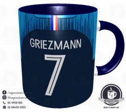 Caneca França - Camisa Copa do Mundo 2018 - Porcelana 325 ml 3