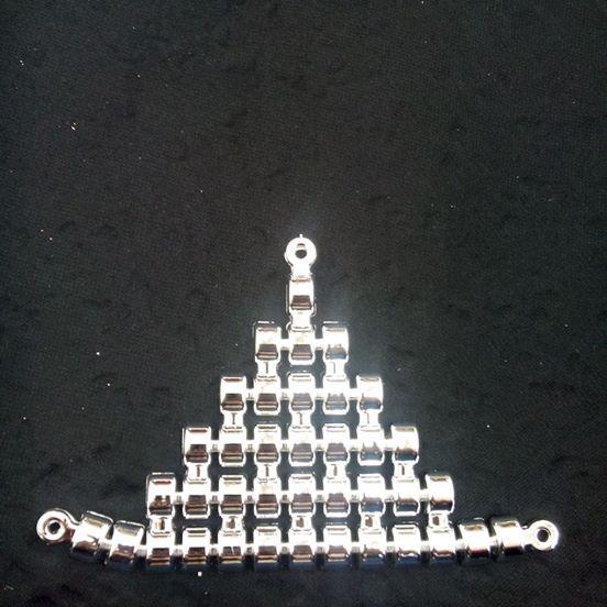 Triangulo Lombada ABS Prata 005