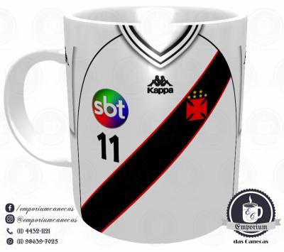 Caneca Vasco - Camisa 2000 - Copa João Havelange - Porcelana 325 ml