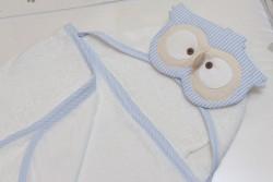 toalha de Banho de Corujinha Azul 4