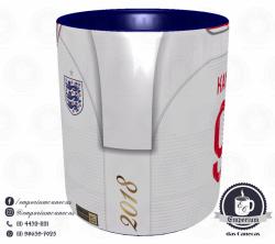 Caneca Inglaterra - Camisa Copa do Mundo 2018 - Porcelana 325 ml 2