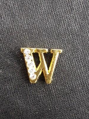 Letra W Dourada