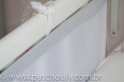 Tela de Berço Cinza com poá branco 2