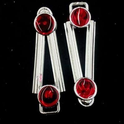 Ponto Exclamacao Prata/Vermelho ABS 033