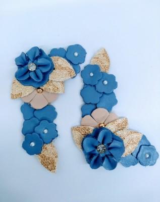 Cabedal Laura Florido Azul