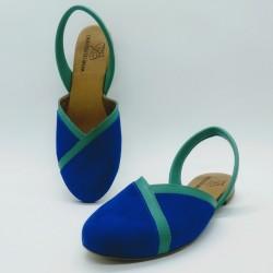 Diagonal Nobuck Azul 1