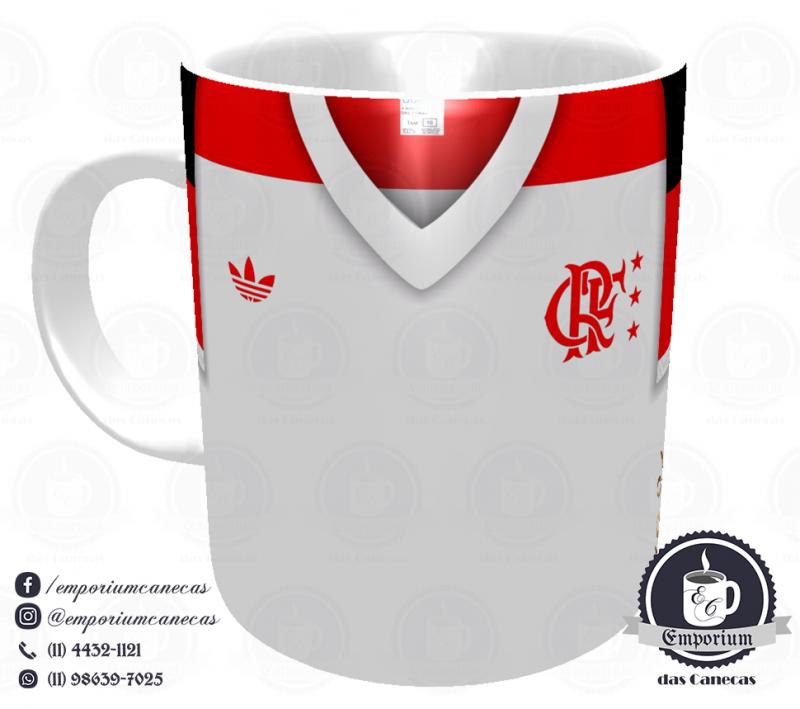 Caneca Flamengo - Camisa 1981 Campeão Mundial de Clubes - Porcelana 325 ml