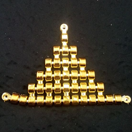 Triangulo Lombada ABS Dourada 006