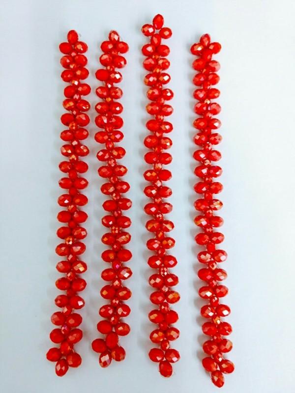 Tiras em Cristal Vermelho Boreal