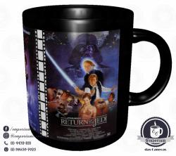 Caneca Clássicos do Cinema - Star Wars (Trilogia Original) - Porcelana 325 ml 3