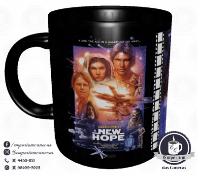 Caneca Clássicos do Cinema - Star Wars (Trilogia Original) - Porcelana 325 ml