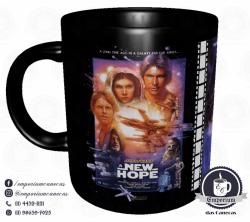 Caneca Clássicos do Cinema - Star Wars (Trilogia Original) - Porcelana 325 ml 1