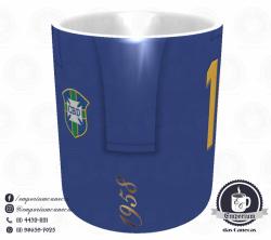 Caneca Seleção Brasileira - Camisa 1958 (Campeão Mundial) - Porcelana 325 ml 2
