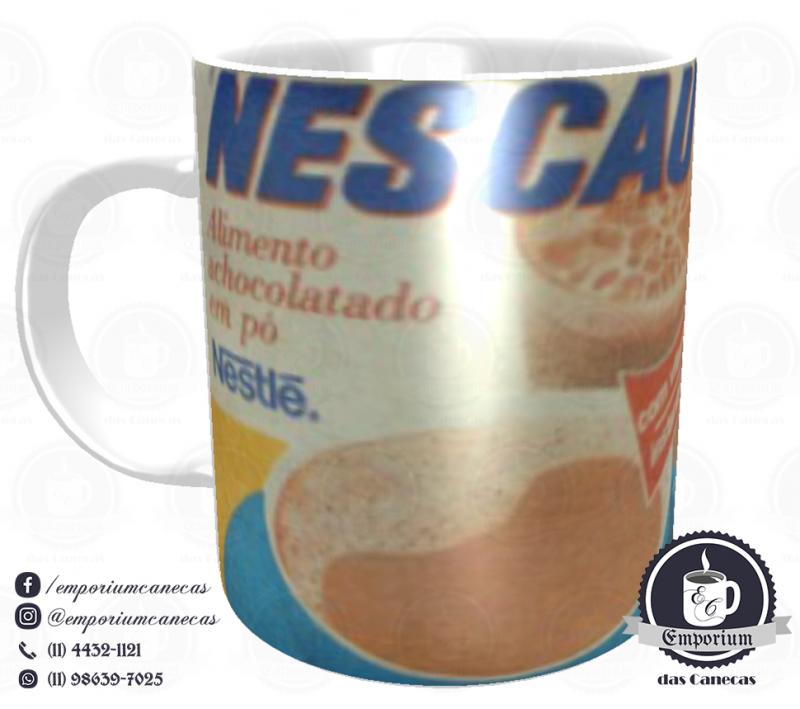 Caneca Vintage - Marcas Inesquecíveis - Nescau (anos 70) - Porcelana 325 ml