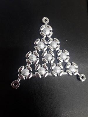Triangulo Flor de Lins Prata