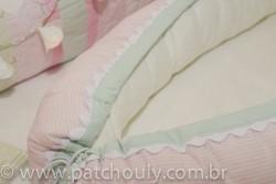 Ninho para bebê Listrado Rosa e Malva 3