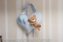 Enfeite de porta Urso Azul com Balão 5