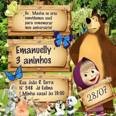 Convites Individuais Personalizados- Infantil 50 Unidades