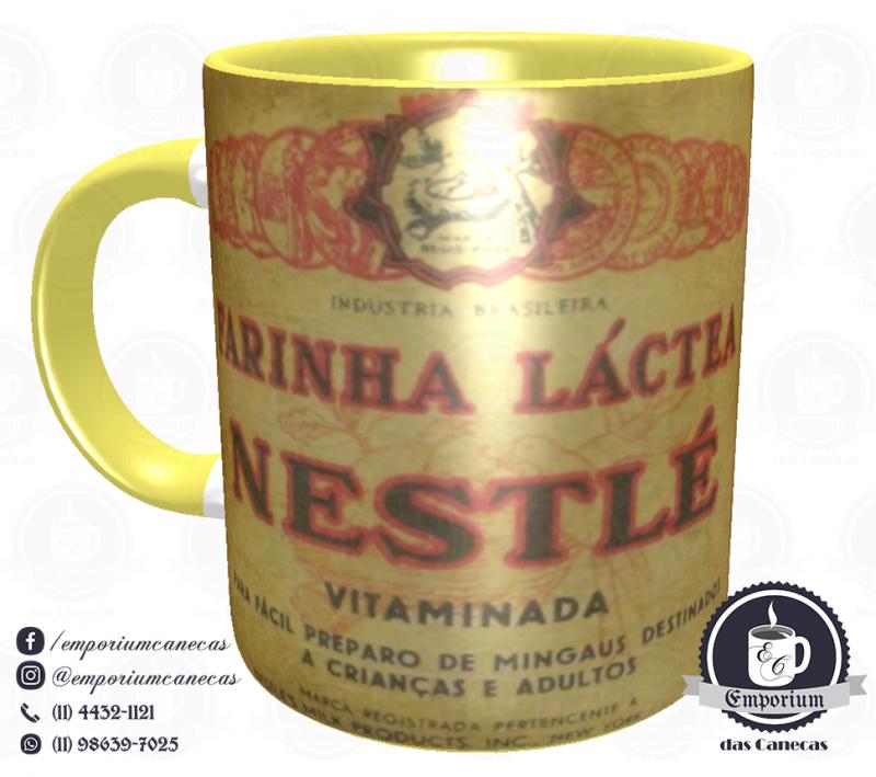 Caneca Vintage - Marcas Inesquecíveis - Farinha Láctea - Porcelana 325 ml